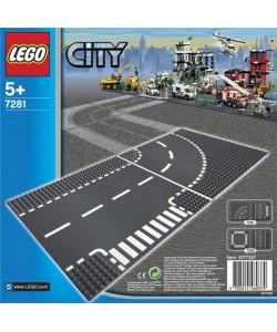 LEGO® City 7281 Křižovatka ve tvaru T a zatáčky