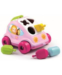 SMOBY Cotoons autíčko vkládačka, růžové