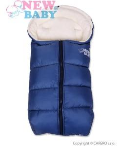 Zimní fusak New Baby Fluffy Blue