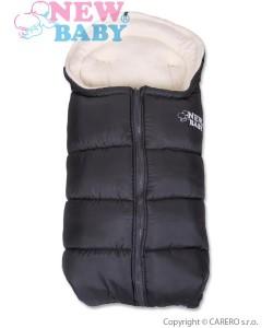 Zimní fusak New Baby Fluffy Dark Grey
