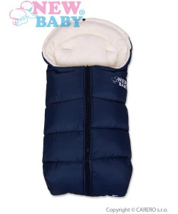 Zimní fusák New Baby Fluffy Navy