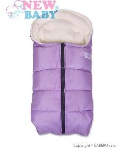 Zimní fusák New Baby Fluffy Purple