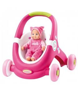 Minikiss Baby Walker 2v1 chodítko/kočárek Smoby