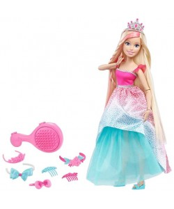 Barbie Vysoká princezna s dlouhými vlasy blondýnka