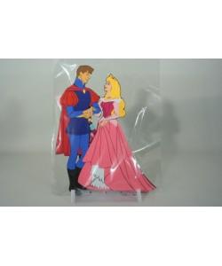 Dekorace velká - Aurora a princ