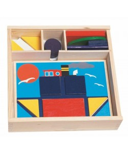 Didaktická vkládačka - 10 obrázků v dř.krabičce