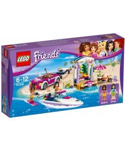 LEGO®Friends 41316 Andrein vůz s přívěsem pro člun