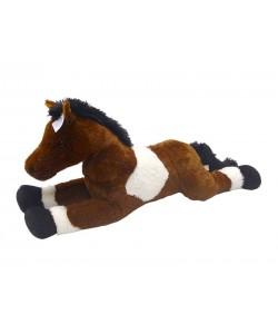 Mac Toys Plyšový kůň bílo/tm hěndý 80 cm