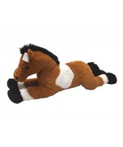 Mac Toys Plyšový kůň bílo/hnědý 80 cm