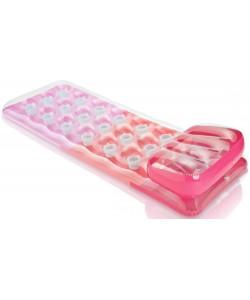 INTEX Nafukovací matrace s polštářkem - růžová