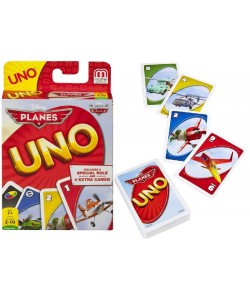 Mattel UNO karty Planes