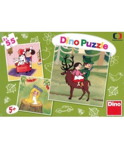 Puzzle Dino České pohádky 3x55D