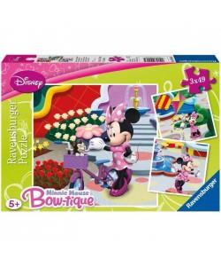 Puzzle Ravensburger Krásná Minnie 3 x 49d