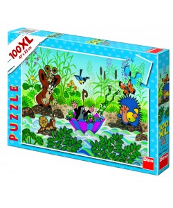 Dino Puzzle Krtečkova plavba 100 XL dílků