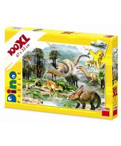 Dino Puzzle Život dinosaurů 100 XL dílků